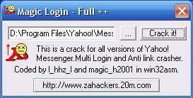 Magic login For Yahoo! Messenger 7.5